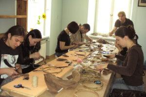 Warsztaty robienia łapaczy snu - sesja w 2008 r.